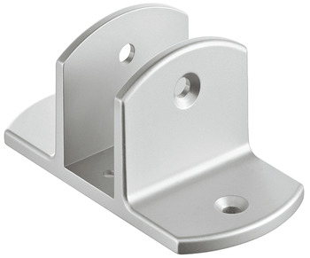 Double mounting bracket for urinal divider, aluminium, partition wall system for sanitary facilities