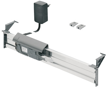Drive unit, Blum Servo-Drive waste bin pull-out system, for waste bins for hooking into drawer side runners