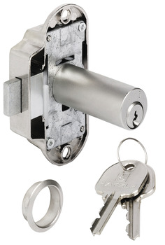 Espagnolette lock, with extended pin tumbler cylinder, customised MK/GMK locking system
