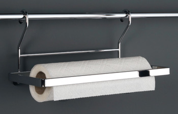 Kitchen roll holder, steel, railing system, for kitchen roll