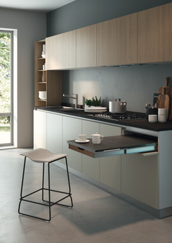 Pull out worktop,for installation in cabinets