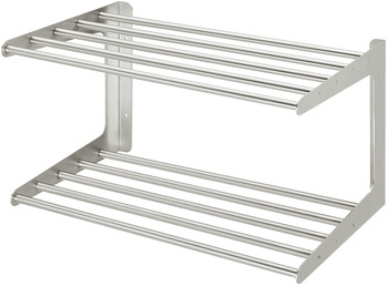 Shoe rack, manufactured to size, for wall mounting