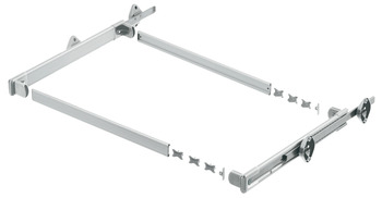 Spacer plate, stackable, for pull-out frame system