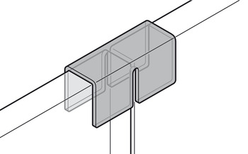 vertical connector,Solitaire Fitting series